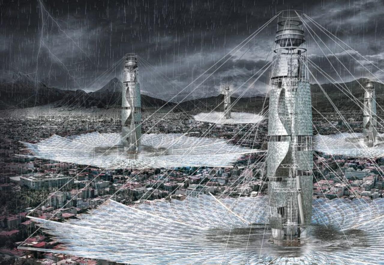 Небоскреб Lluvioso спасет города от наводнений и решит проблему нехватки воды