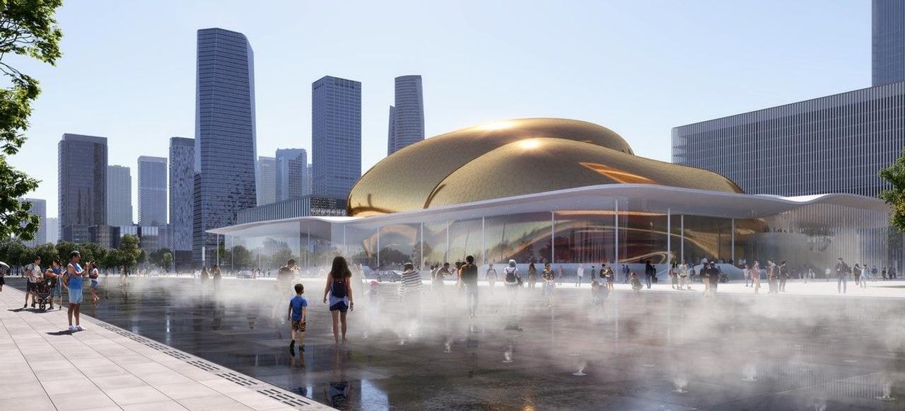 Китайский Международный концертный центр - удивит своими золотыми яйцами