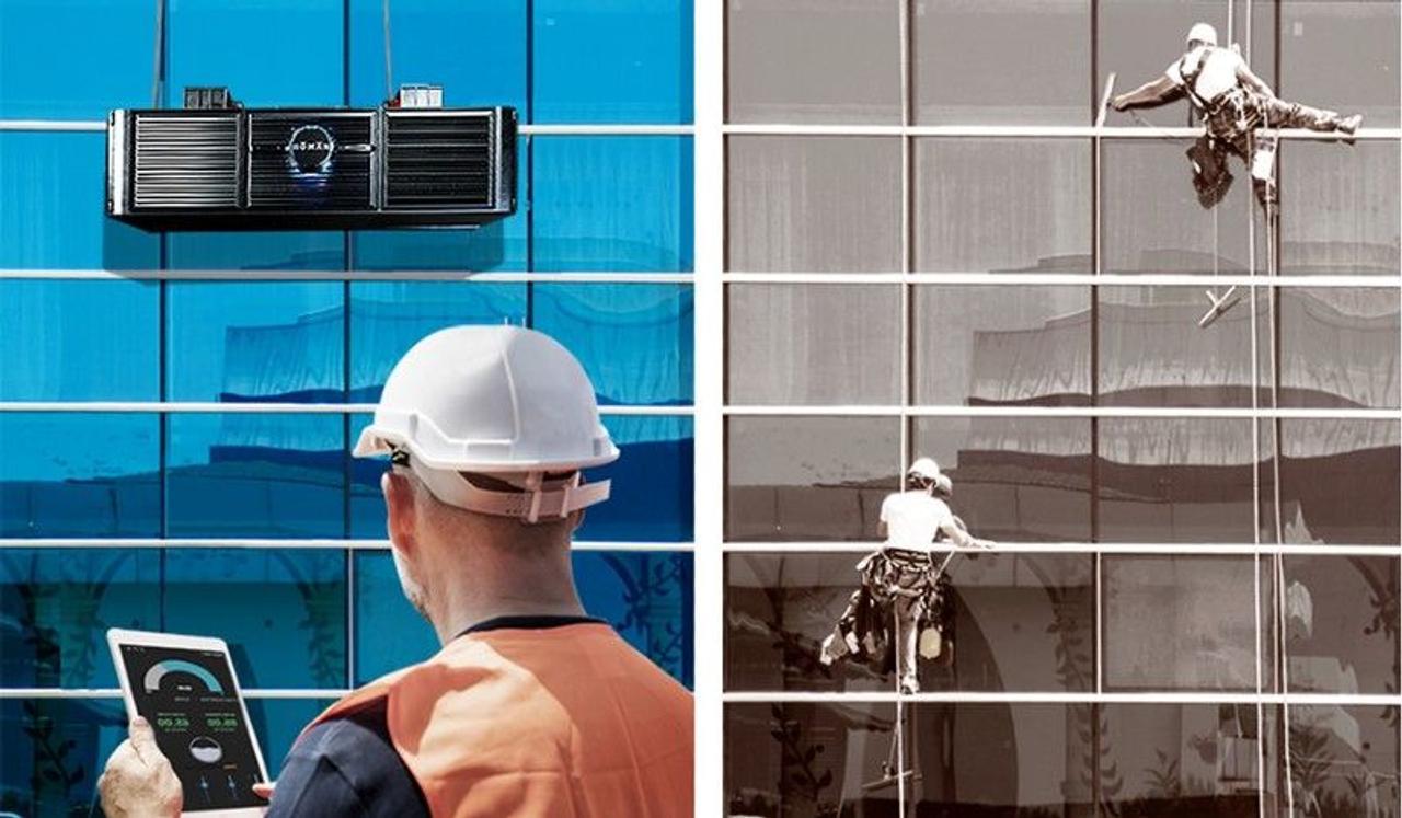 Новый робот «мойщик окон» сделает обслуживание окон и фасадов высотных зданий более быстрым и безопасным