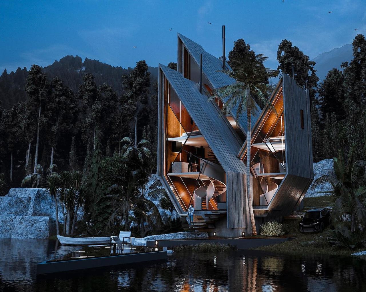 Кубинский «сломанный алмаз»: новая визуализация от Veliz Arquitecto, которая вдохновляет на поиски прекрасного