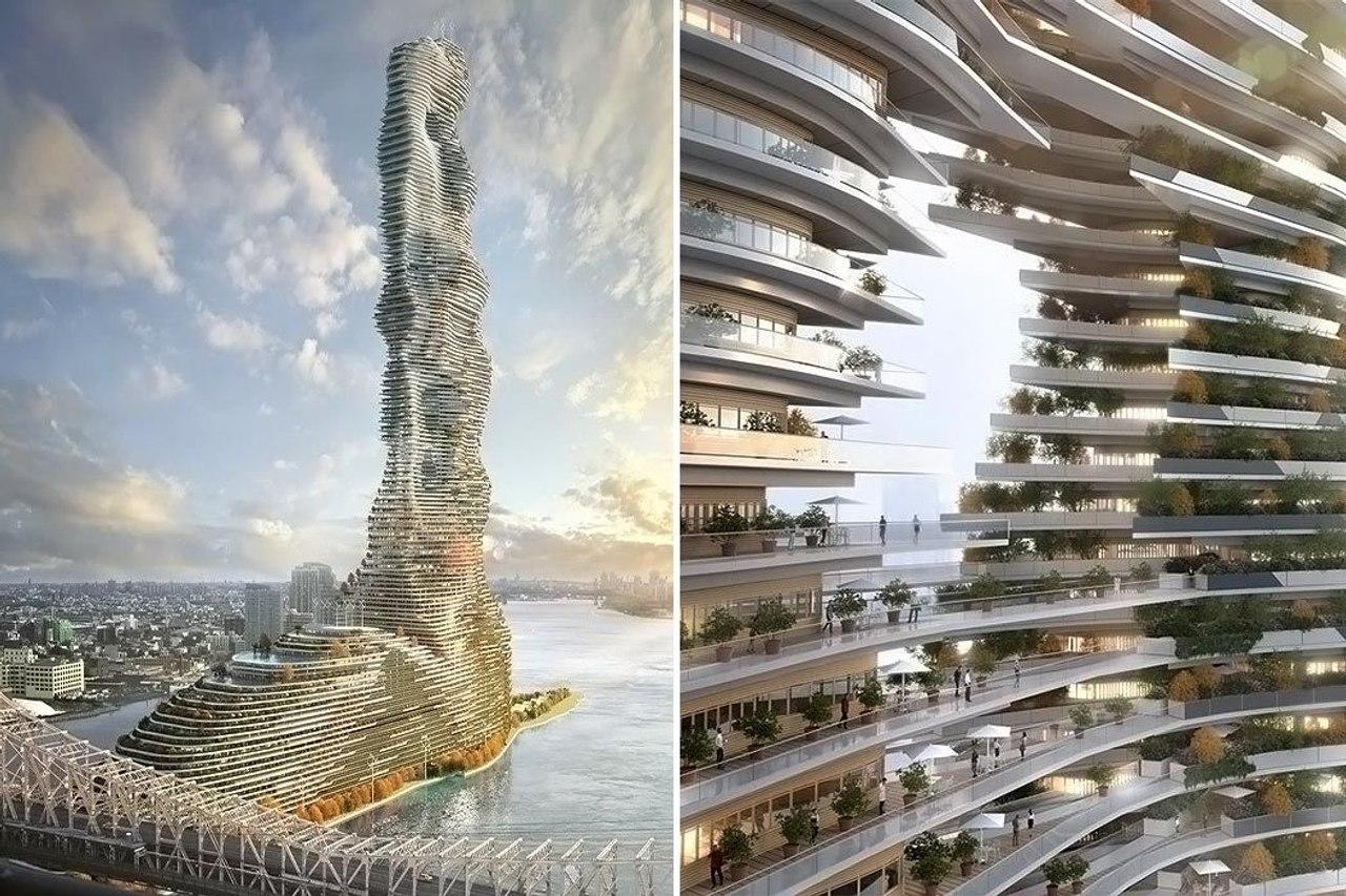 Небоскреб будущего: в Нью-Йорке построят жилую башню Mandragore, которая будет поглощать углерод