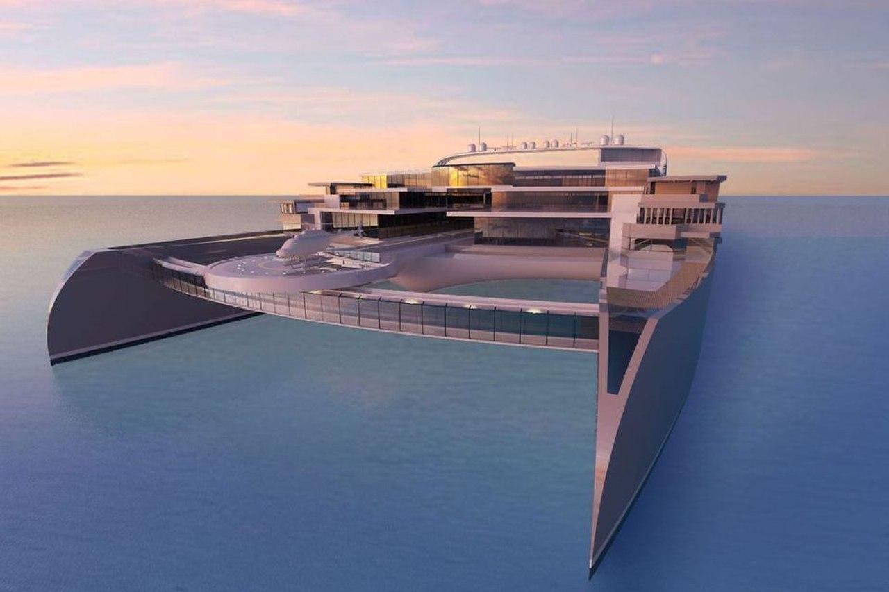 Футуристический концепт «отель - катамаран» Galileo²