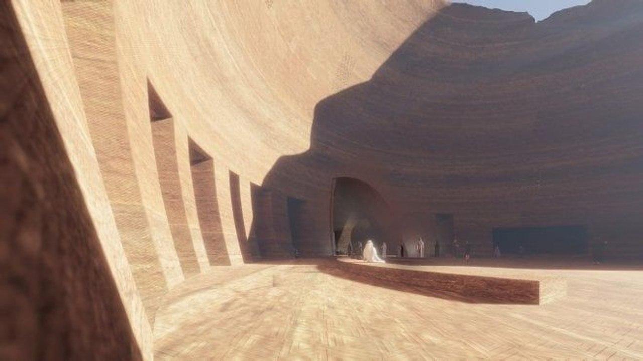Французский архитектор Жан Нувель намерен построить курорт и отель внутри песчаных скал посреди аравийской пустыни