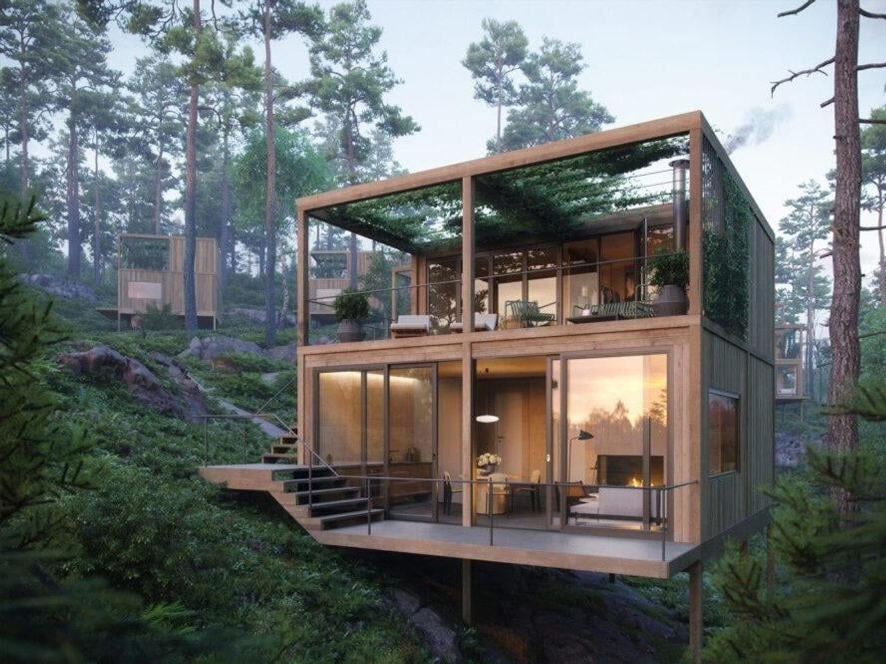 В Норвегии создают эко - отель, в который можно попасть только по пешеходной тропе