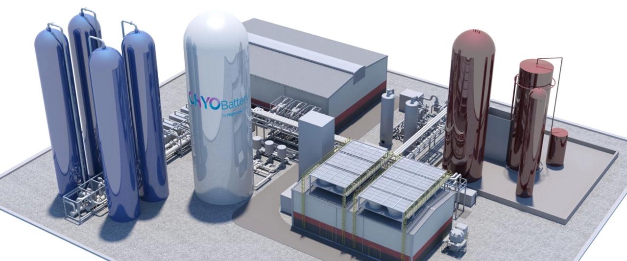 В Великобритании создают крупнейшую систему хранения энергии на основе батареи CRYOBattery 250 МВт-ч используя технологию криогенного охлаждения