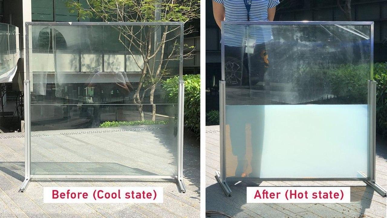 «Умное окно» поглощает солнечное тепло днем и отдает его ночью, снижая потребление энергии в зданиях до 45 %