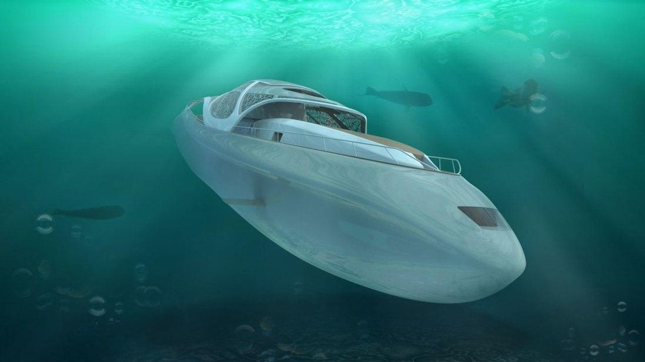 Фантастическая мега-яхта «Carapace» с возможностью автономного подводного плавания