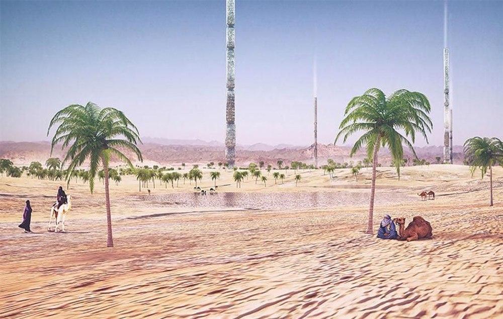 Небоскребы высотой 1 км превратят бесплодные пустыни в живительные оазисы