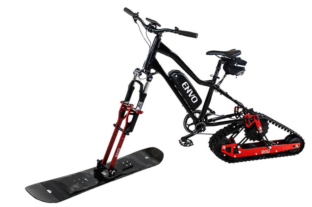 Комплект Envo превратит горный велосипед в электрический снегоход