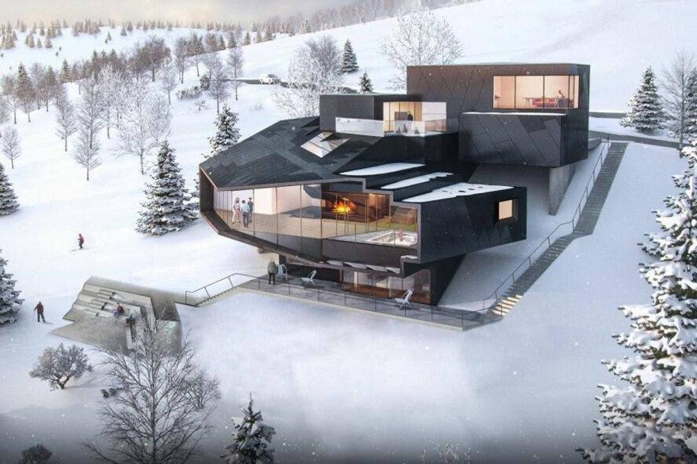 Энергетическое здание Dark Chalet будет генерировать на 364 % больше энергии, чем потребляет