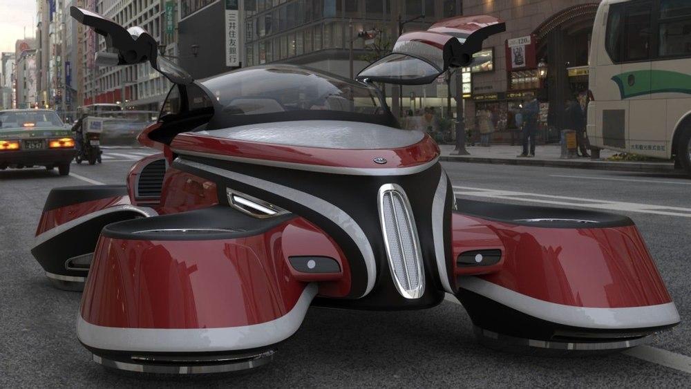 Летающий автомобиль дизайнера Pierpaolo Lazzarini сочетает прошлое с технологиями будущего