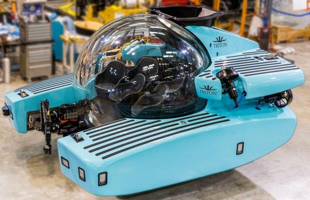 Новая туристическая подводная лодка Triton вмещает шесть человек и опускается на глубину 1000 м