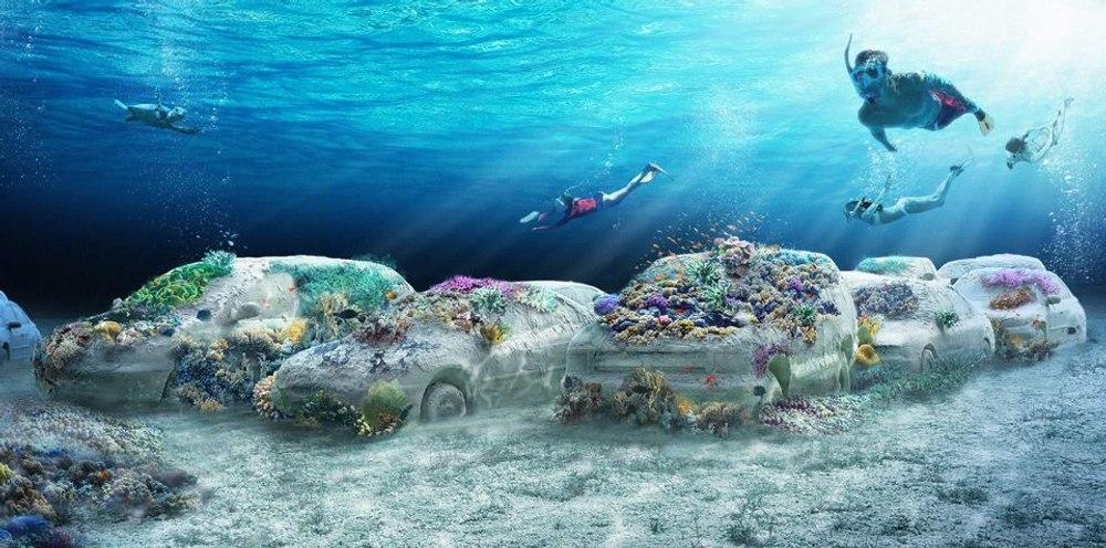 Парк подводных скульптур The ReefLine для Майами-Бич