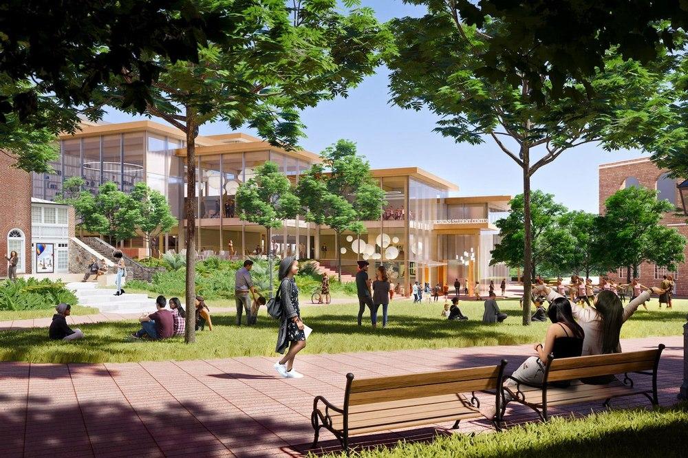 Новый кампус университета Хопкинса энергоэффективное «сердце» социального взаимодействия студентов