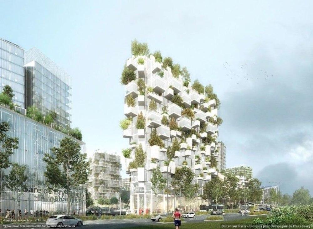 """В Париже построят первый небоскреб """"Вертикальный лес"""" по проекту Architetti's"""