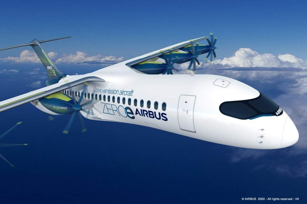 Airbus разрабатывает съемные водородные двигатели для самолетов