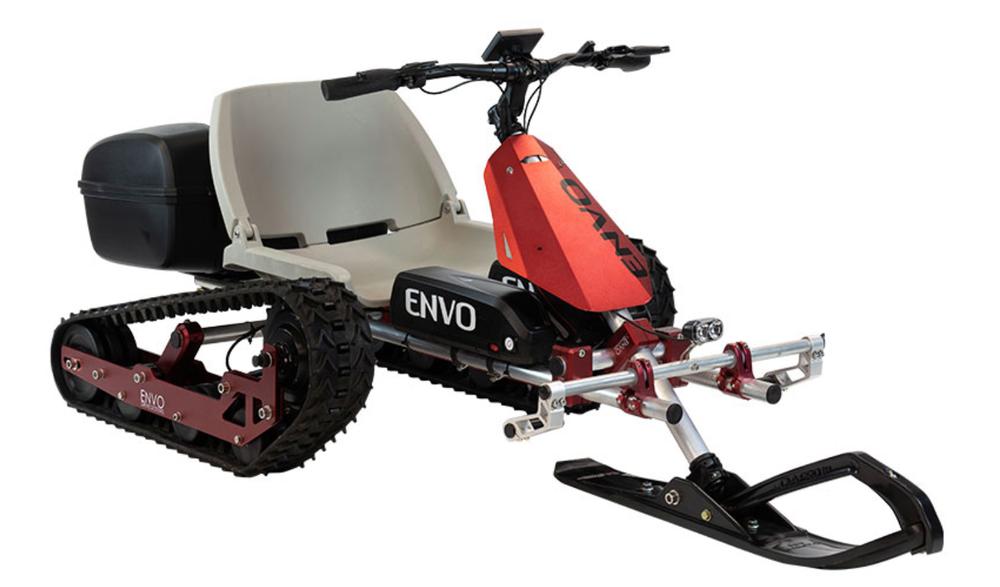 ENVO SnowKart - электрический картинг с протектором для зимних приключений