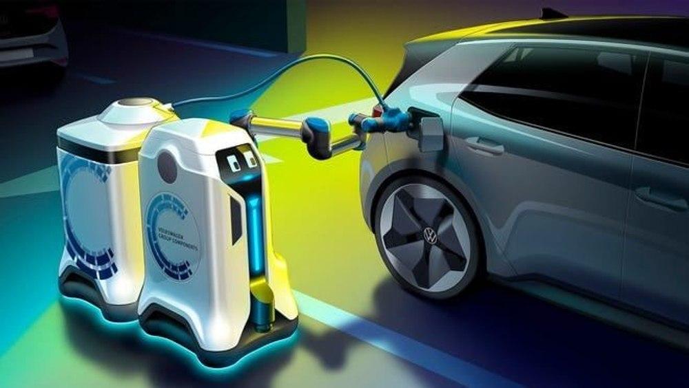 VW представил прототип автономного зарядного робота для электромобилей