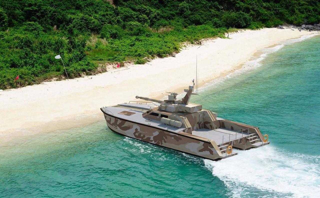 В Индонезии построили танк - катер Tank Boat, для патрулирования 17 508 островов