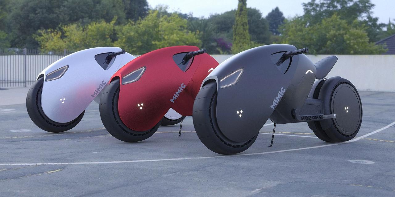 Российский дизайнер представил концепт электробайка MIMIC вдохновленного Tron Light Cycle