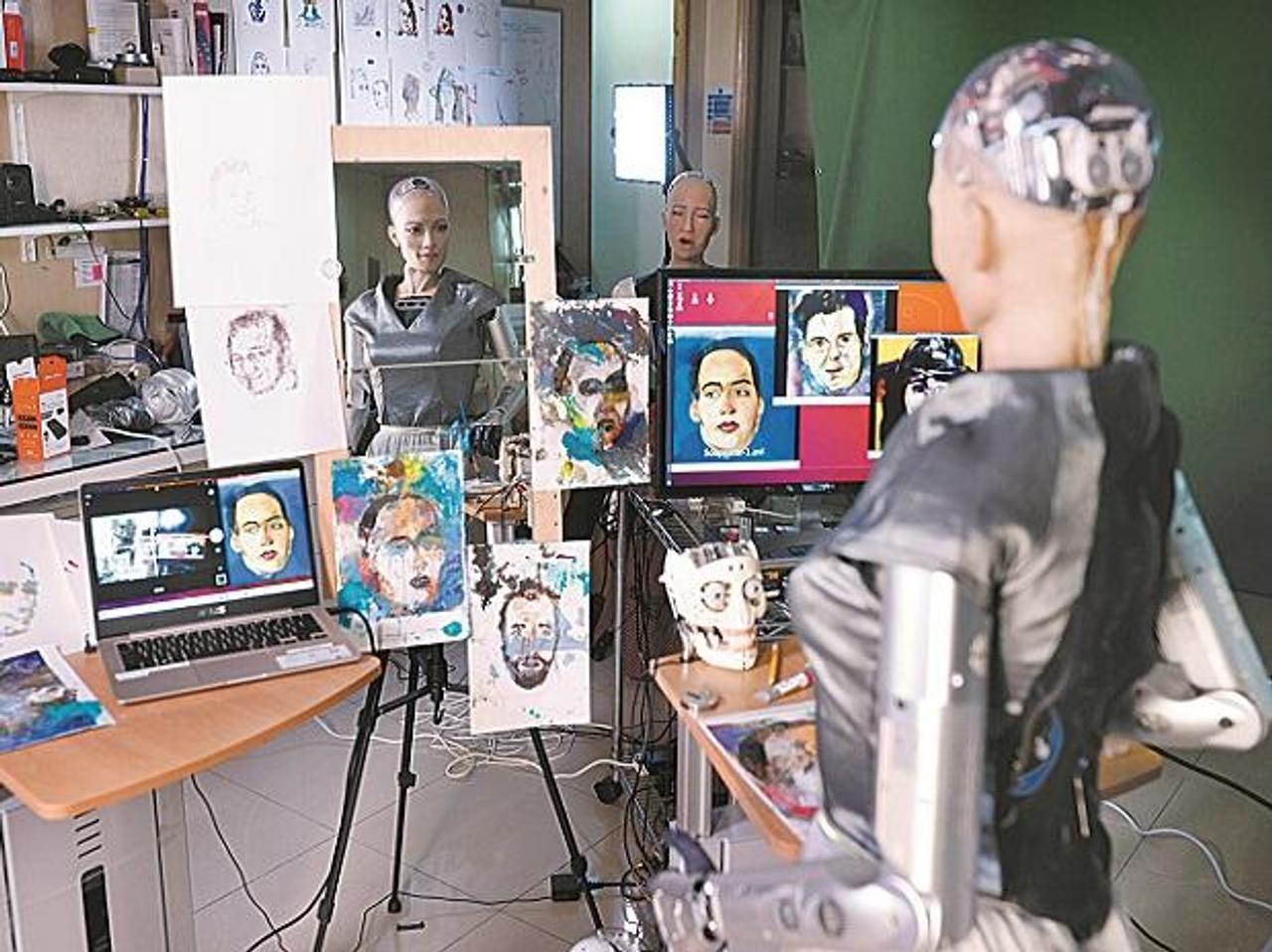 Робот София создала свое первое цифровое произведение искусства, его оценили в $ 688 888