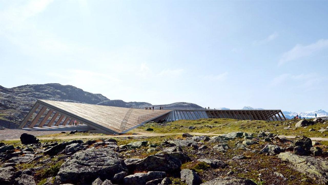 Центр климатических исследований Visitor Center в Гренландии раскрывает историю жизни человечества среди ледяных фьордов