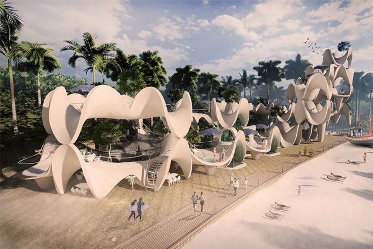Сборные конструкции в форме кораллов созданы с учетом существующей экологии и истории сообщества