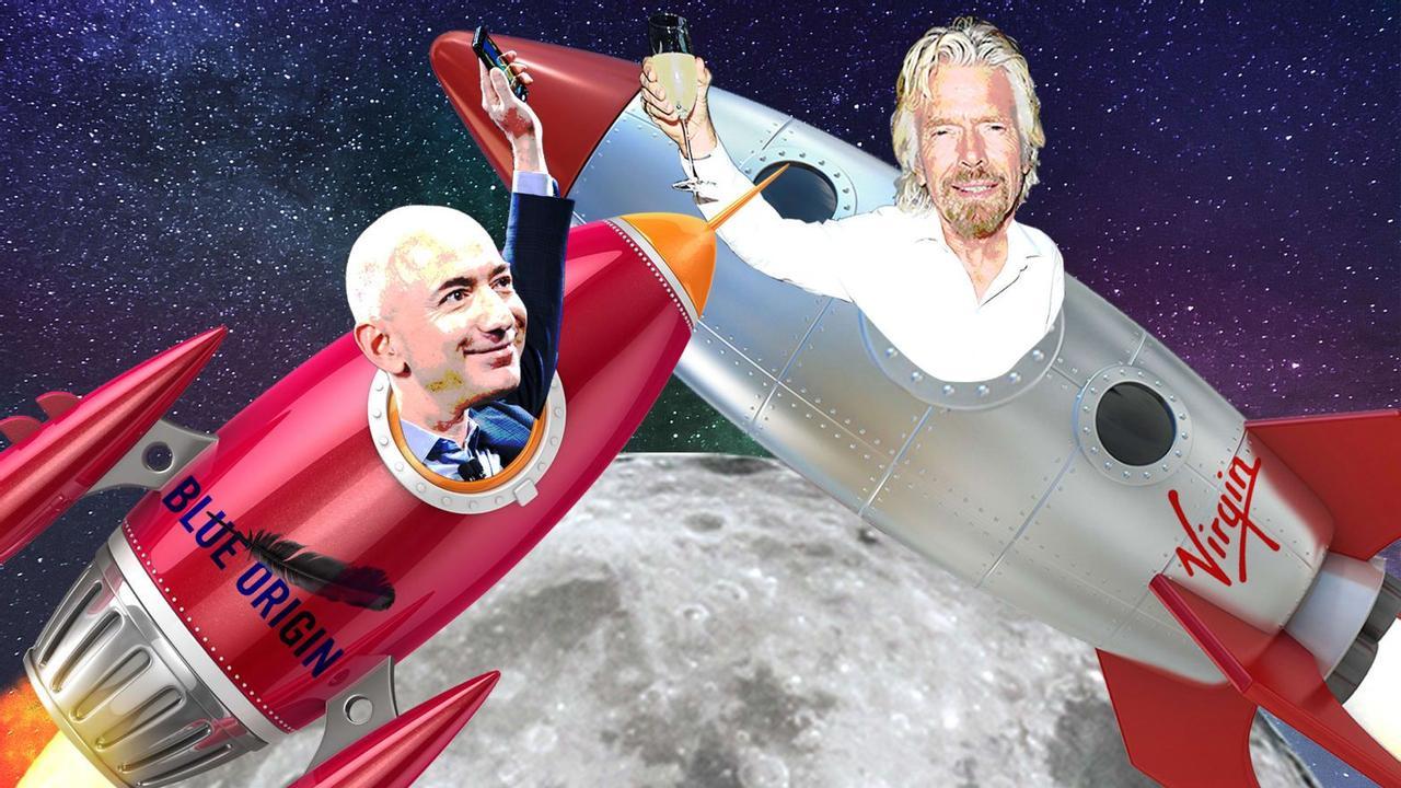 Ричард Брэнсон хочет обогнать Джеффа Безоса и стать первым космическим туристом