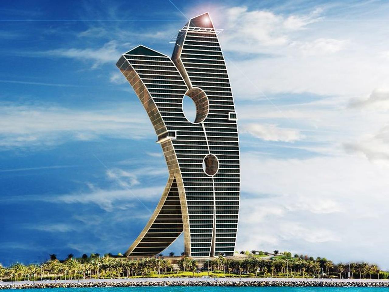 Израильская компания «Clothespin» планирует построить в Дубае самое оригинальное здание в мире – «Башню прищепку»