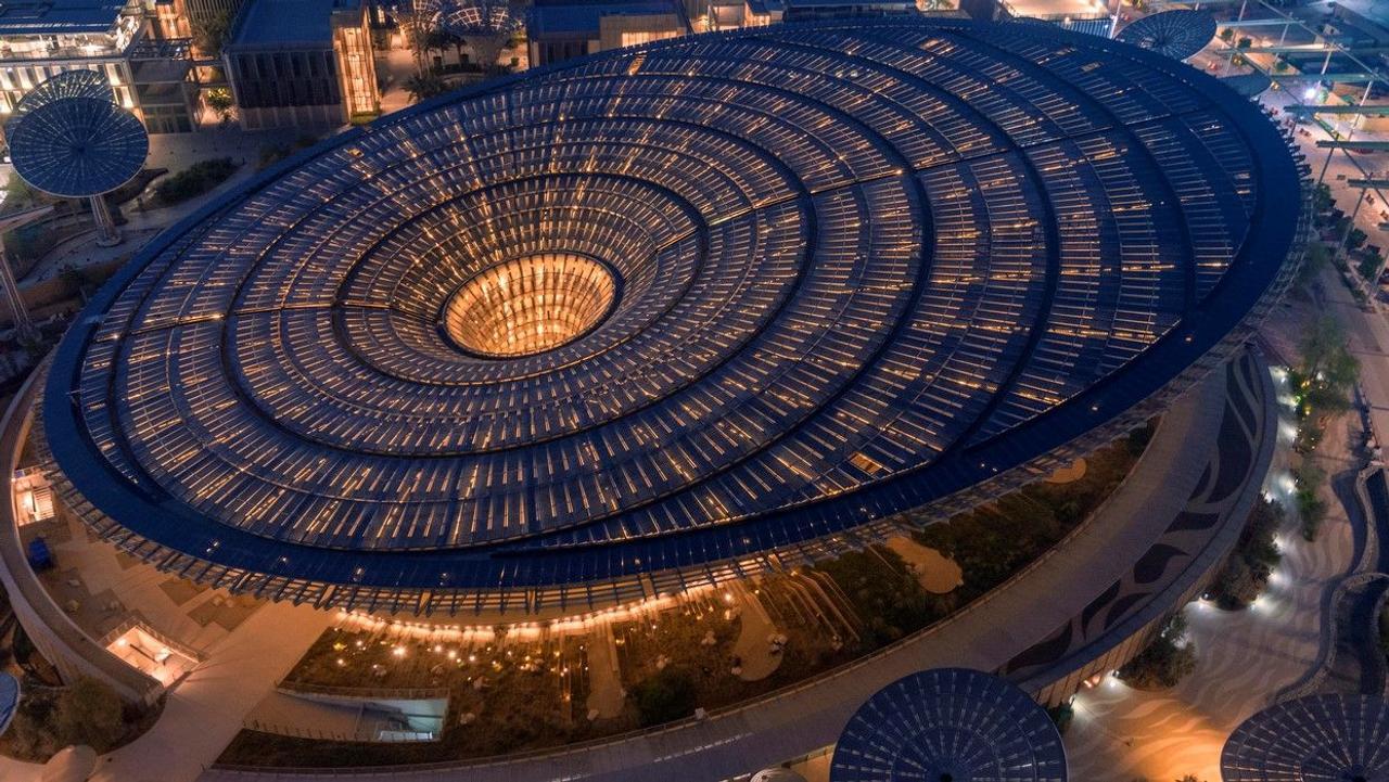 Павильон устойчивого развития Terra на выставке Expo 2020 Dubai - ассоциация естественного процесса фотосинтеза и морфологии