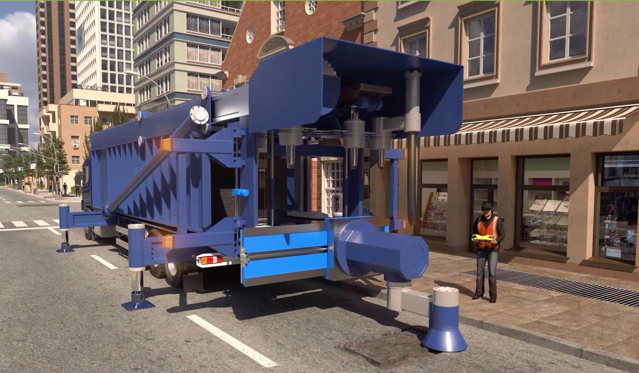 Уникальная, автономная машина для быстрого ремонта автомобильных дорог