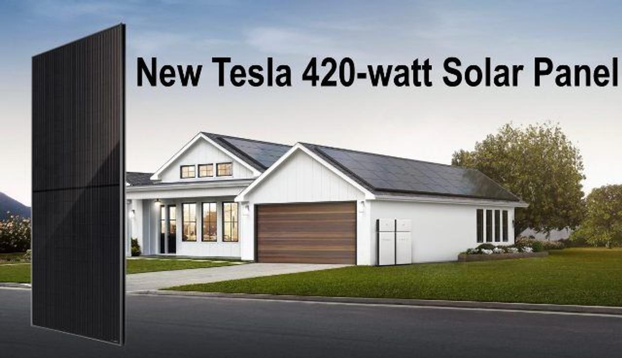 Tesla представила солнечную панель для жилых домов мощностью 420 Вт