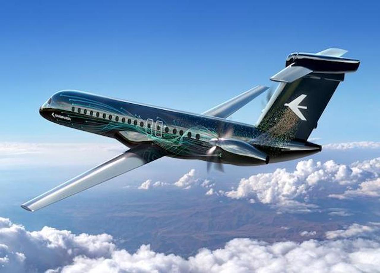 Компания Embraer разрабатывает турбовинтовой пассажирский самолет с двигателями в хвостовой части