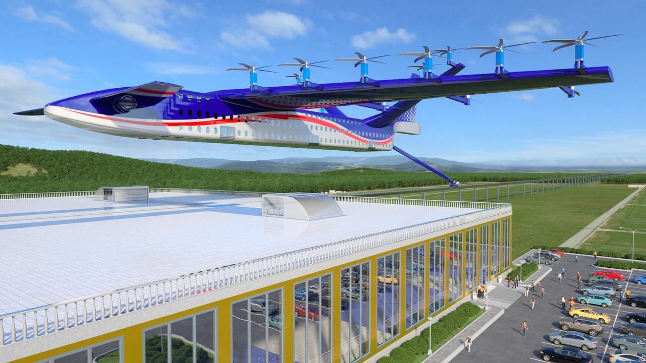 Летательный аппарат «Самолет-поезд» - экологический транспорт, способен развить скорость 700 км/ч