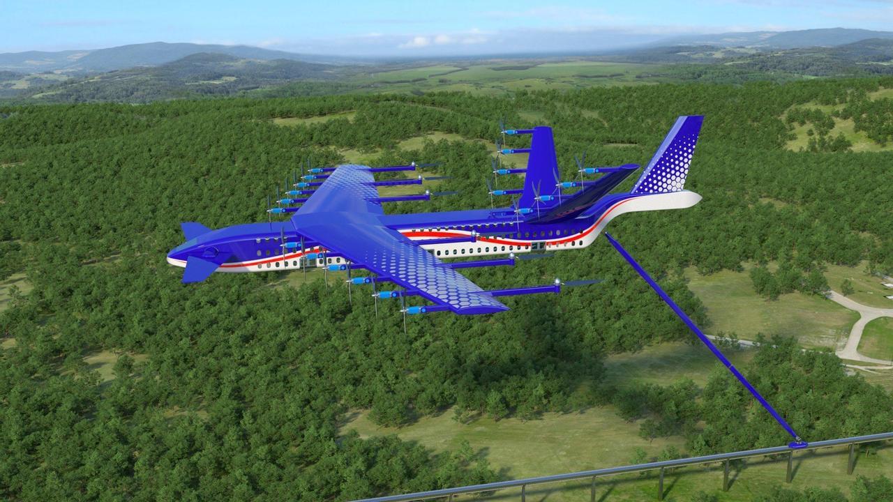 «Самолет-поезд» - экологический транспорт для перевозки большого количества пассажиров