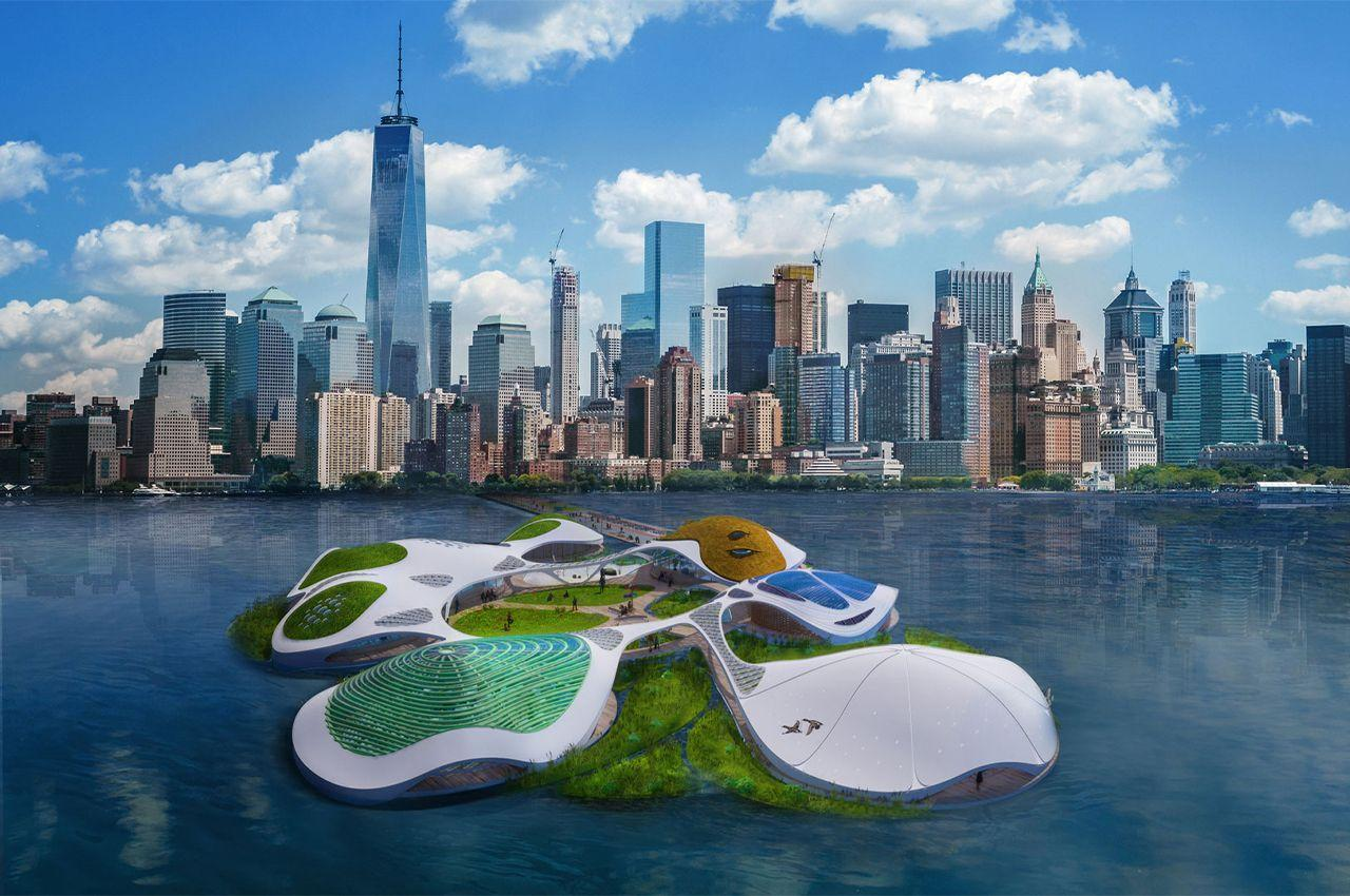 На Манхэттане построят плавучий мобильный кампус, как вдохновляющий пример для будущей жизни