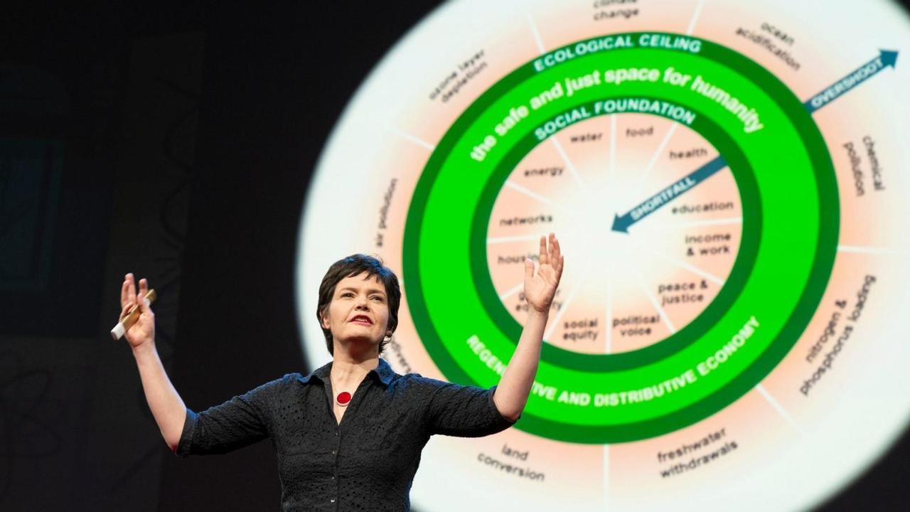 «Модель «пончиковой» экономики: обеспечение жителей земли всем необходимым, отказ от банков и национализация ресурсов», - автор концепции, экономист Кейт Раворт