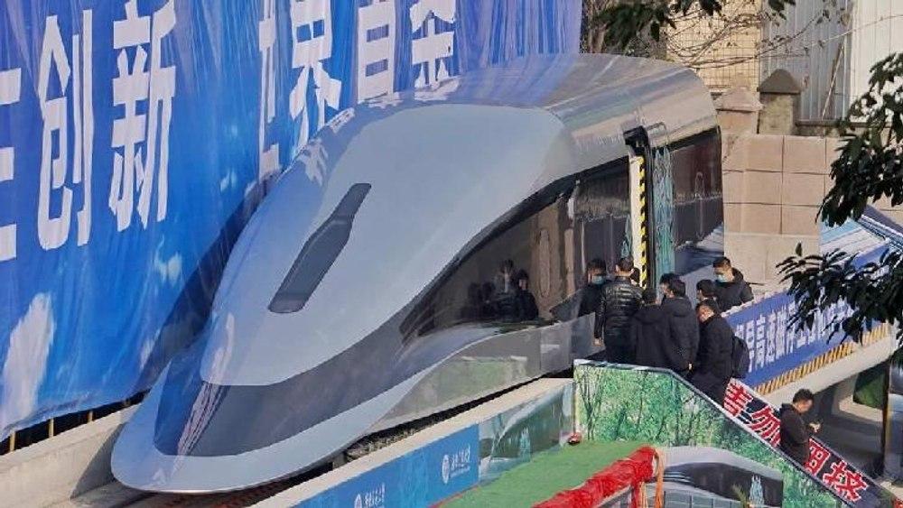 Китай представил прототип поезда на магнитной подвеске рассчитанного на движение со скоростью до 620 км / ч