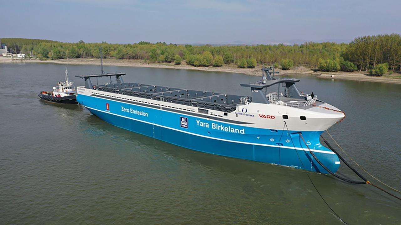 В Норвегии построили первое в мире автономное грузовое электрическое судно мощностью 7 МВтч
