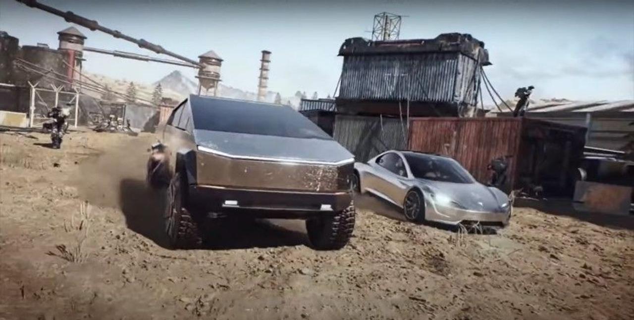 Tesla выпустила фантастический трейлер об автомобилях Cybertruck и Roadster