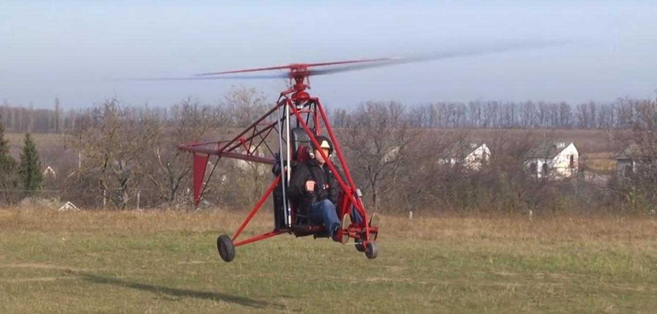 Инженер из Украины построил вертолет в своем гараже