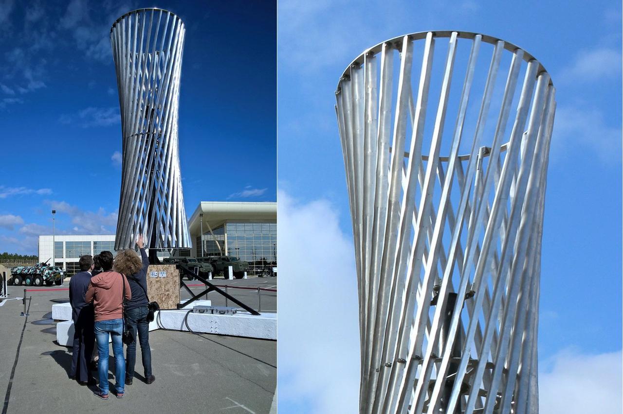 Ветровая турбина гиперболоидного типа Шухова способна работать даже в восходящих потоках воздуха