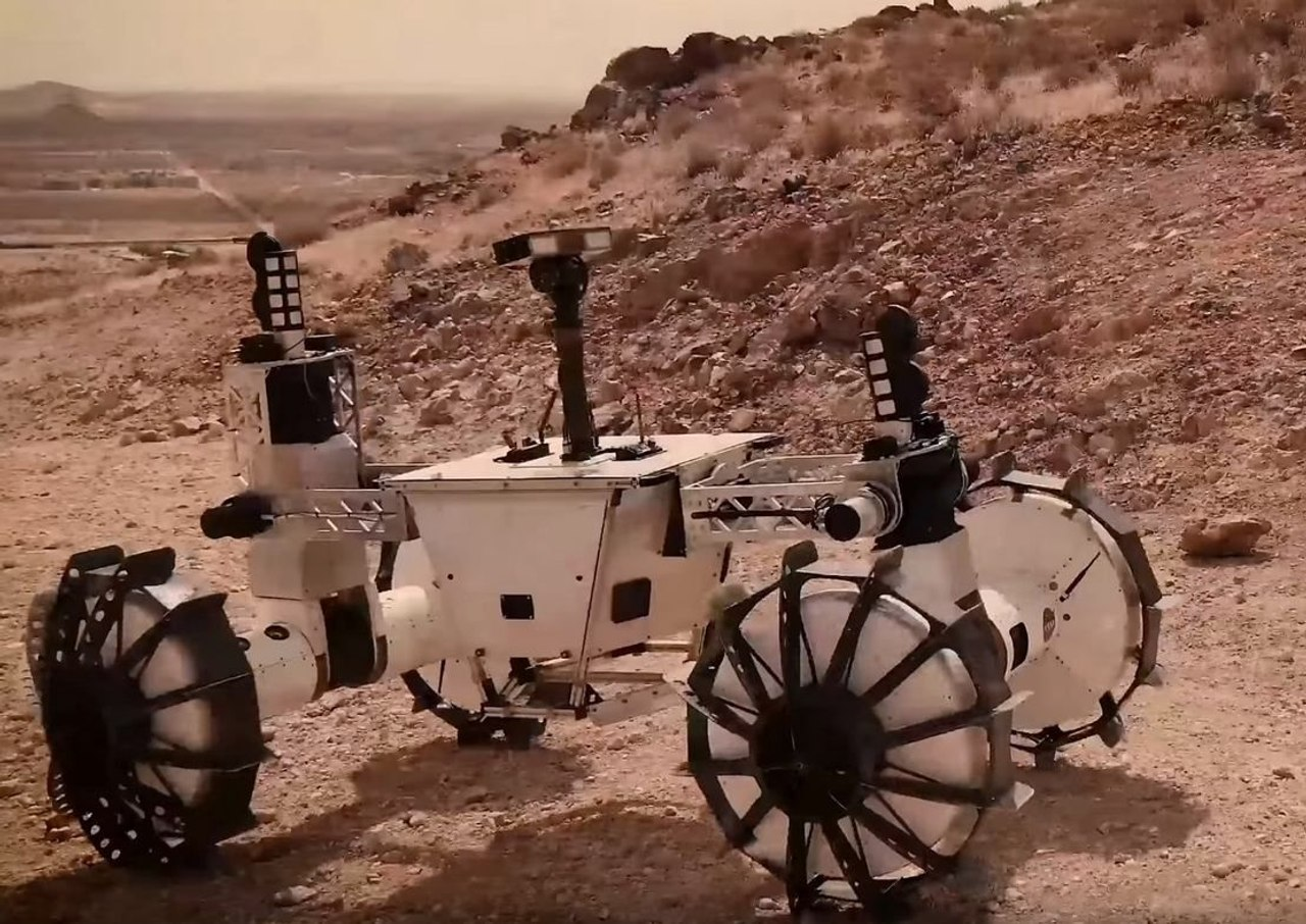 NASA представило вездеход-трансформер DuAxel для исследования Марса
