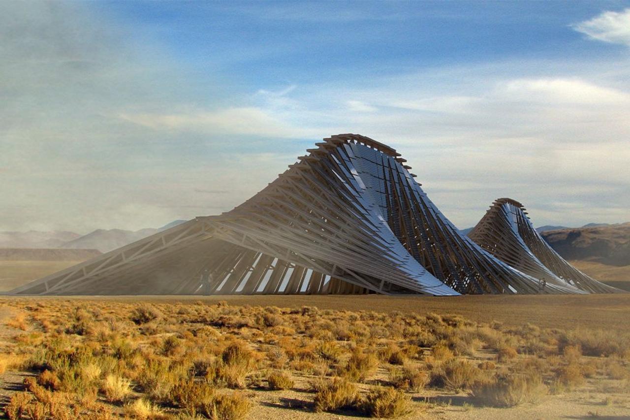 Солнечная ферма Solar Mountain обеспечит 300 МВт-ч чистой электроэнергии в год и станет интерактивной зоной Burning Man