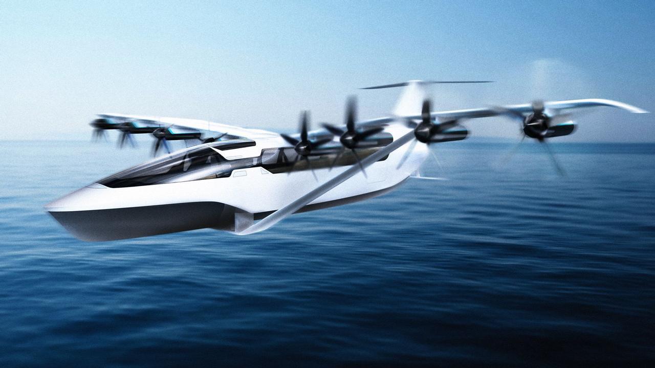 Летающий электрический паром Seaglider лучший способ путешествовать между городами