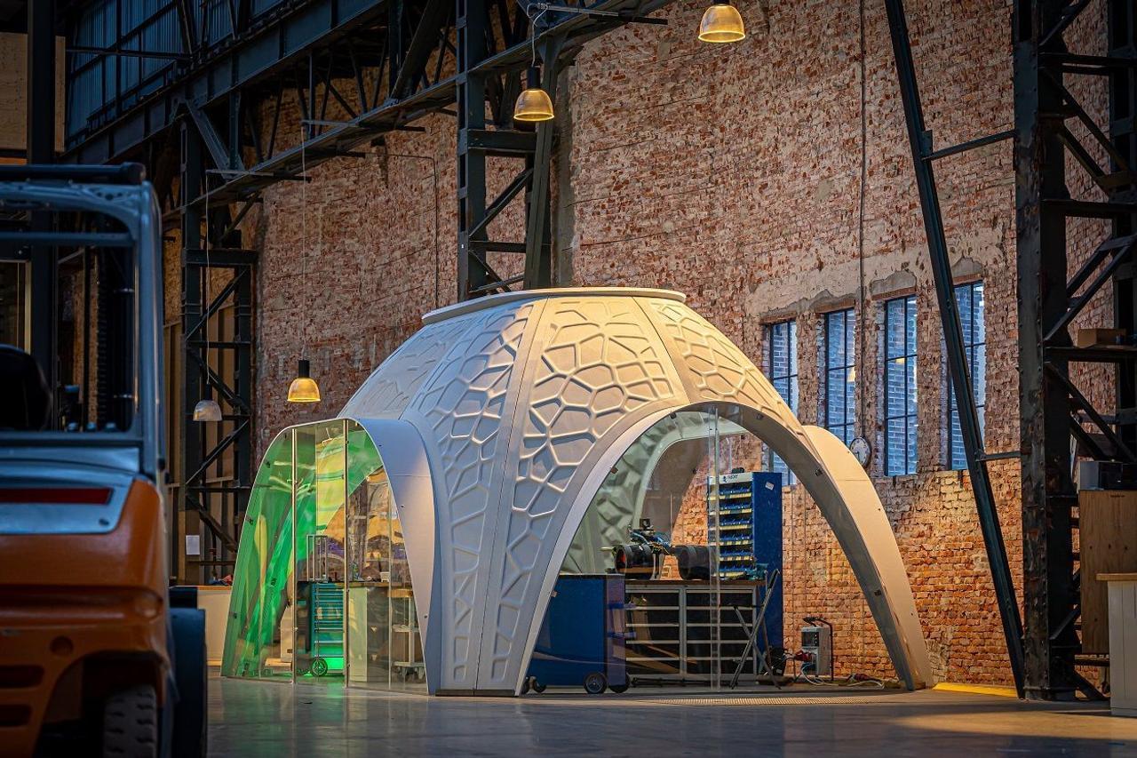 Модульные офисы R-IGLO, печатают на 3D - принтере, из отходов, поступающих из портов Роттердама