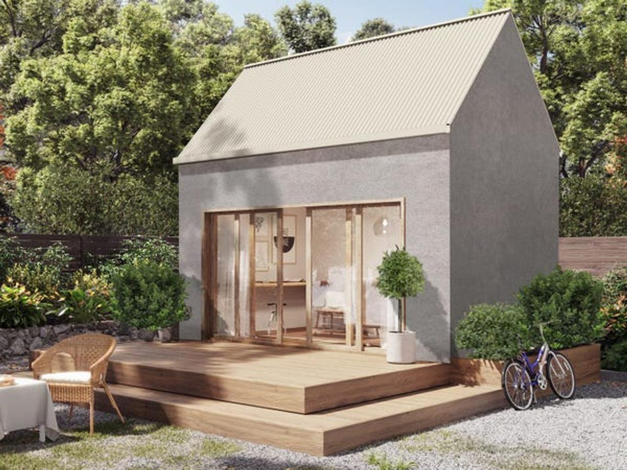 «Конопляный» домик для уютных вечерних посиделок обеспечит комфортное и веселое времяпровождение