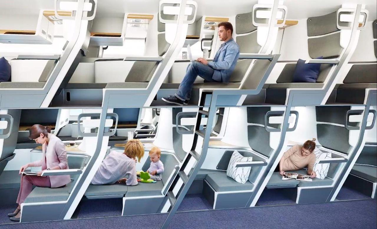 Zephyr Aerospace предлагает сделать в самолетах двухъярусные купейные места, для большего комфорта пассажиров