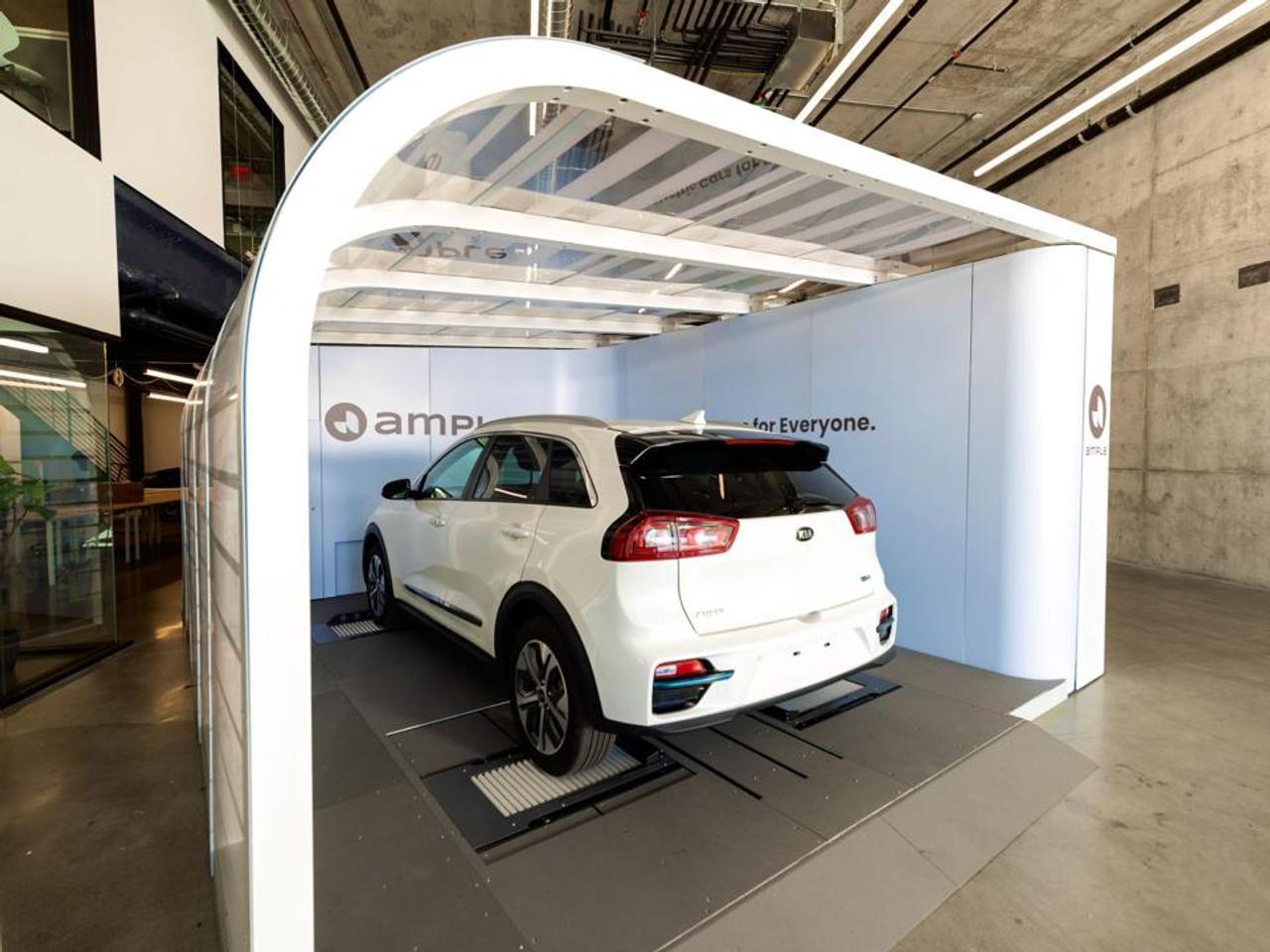 Ample представил автоматизированную систему замены батарей в электромобилях за 10 мин