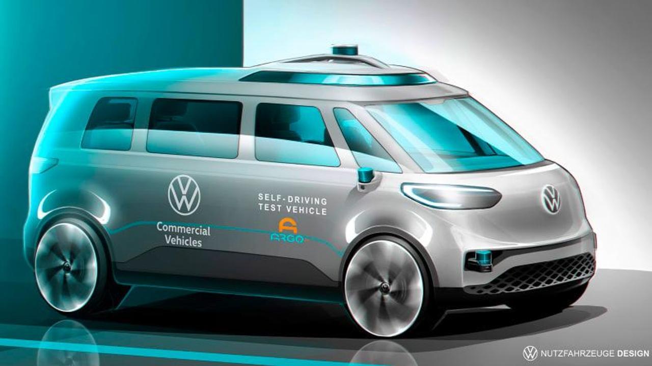 Volkswagen начал тестирование автономного электрического фургона Buzz